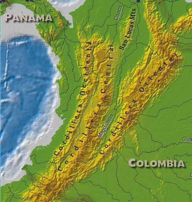 Les 3 cordillères des Andes colombiennes