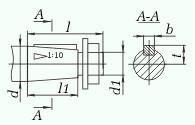 Редукторы цилиндрические горизонтальные одноступенчатые типа 1ЦУ (ЦУ). 1ЦУ-160 (ЦУ-160); 1ЦУ-200 (ЦУ-200); 1ЦУ-250 (ЦУ-250) .Размеры тихоходного (выходного) и быстроходного (входного) валов.