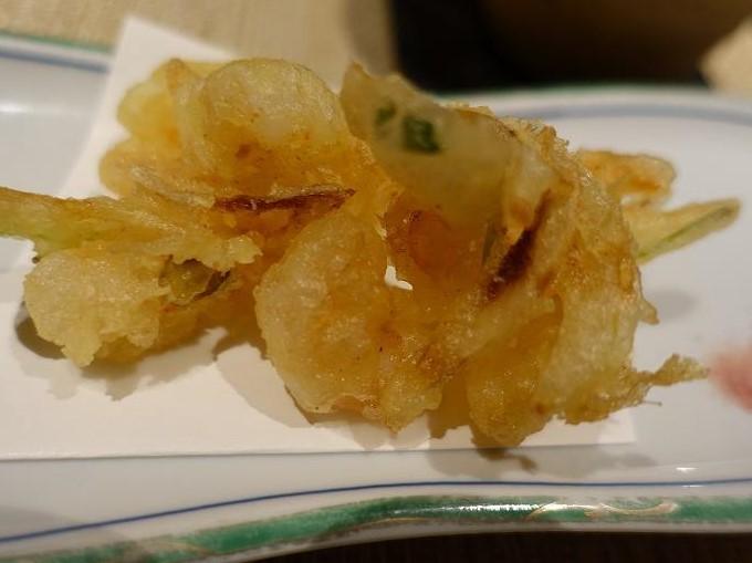 新玉葱と海老のかき揚げ