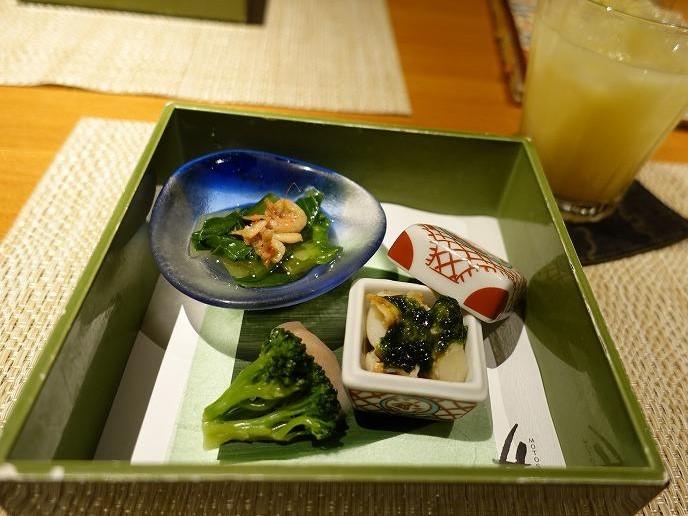 桜えび・チンゲンサイ、ブロッコリー・新生姜、ホタテ・あおさのり