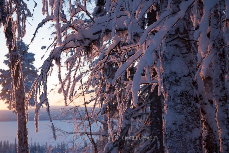 Sonnenuntergang am Jerisjärvi