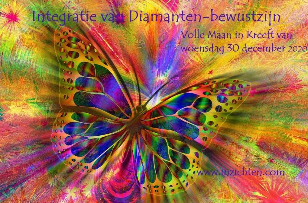 Volle Maan 30 december 2020: Integratie van Diamanten-bewustzijn ♥ Manuela van der Knaap ♥ Lichtwerkers Nederland