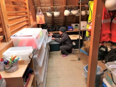 倉庫の道具整理