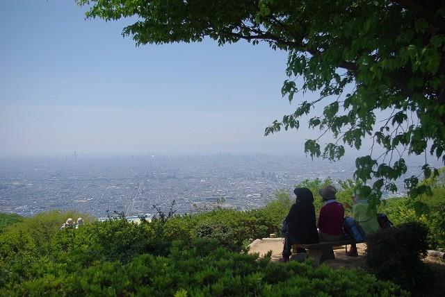 生駒から大阪平野の眺め