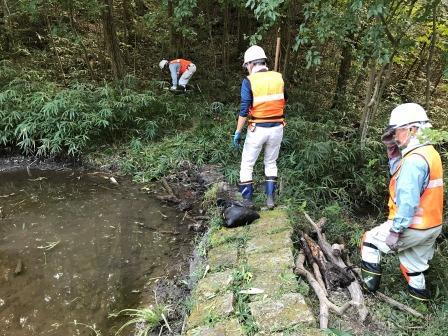 水漏れ対策作業前