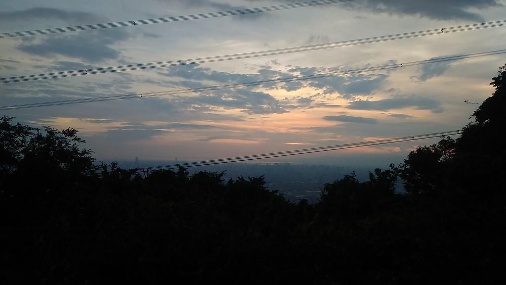 大阪平野の夕焼け