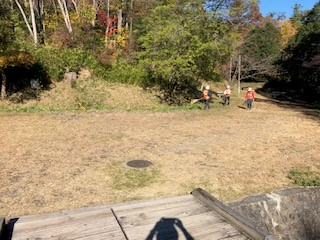第二キャンプ場水路左岸作業後