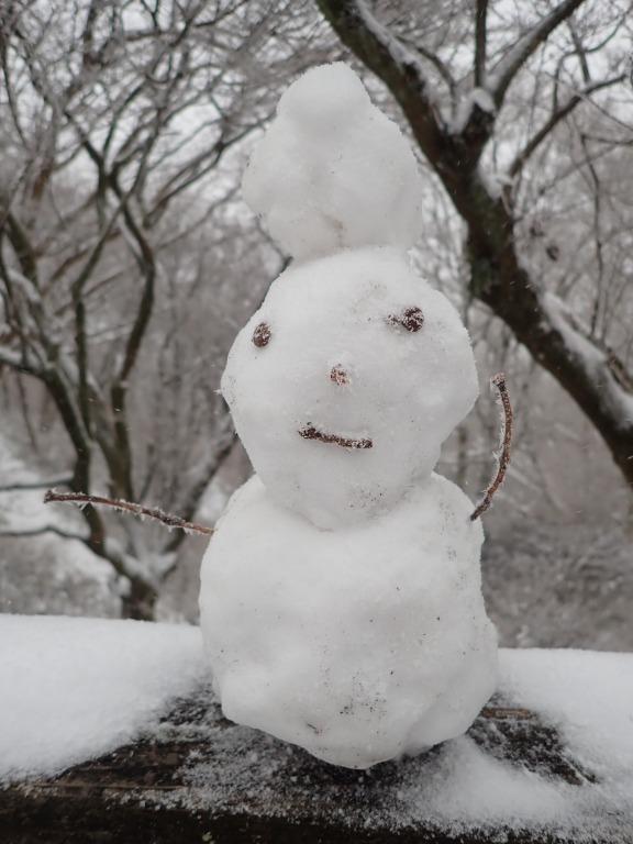 誰かが作った雪だるま。
