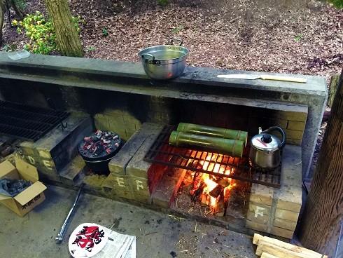 ダッチオーブン料理と竹筒ご飯