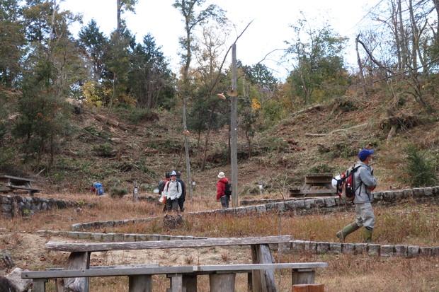 第一キャンプ場で森創りの準備が進んでました