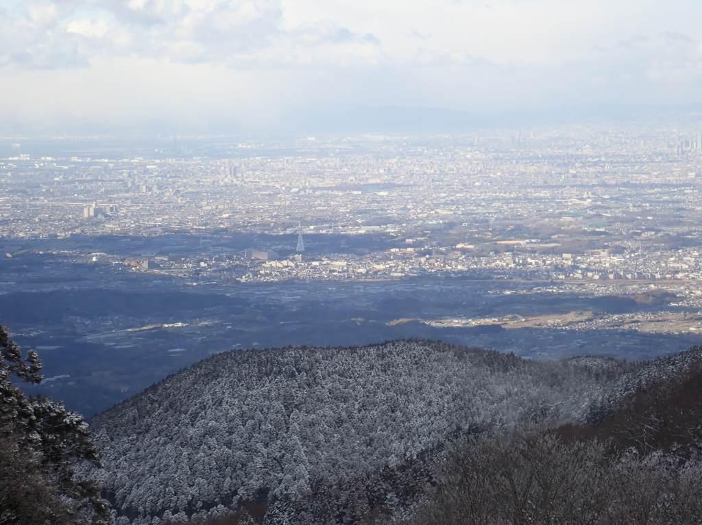 金剛山頂からの景色。