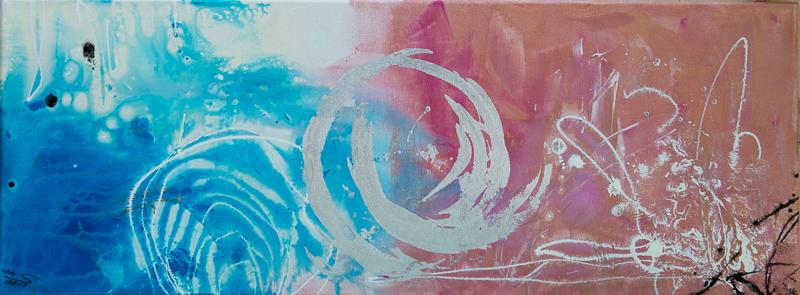 connection - Acryl auf Leinwand, 80x30 cm, 2014, U.Schachner/S. Ulrich