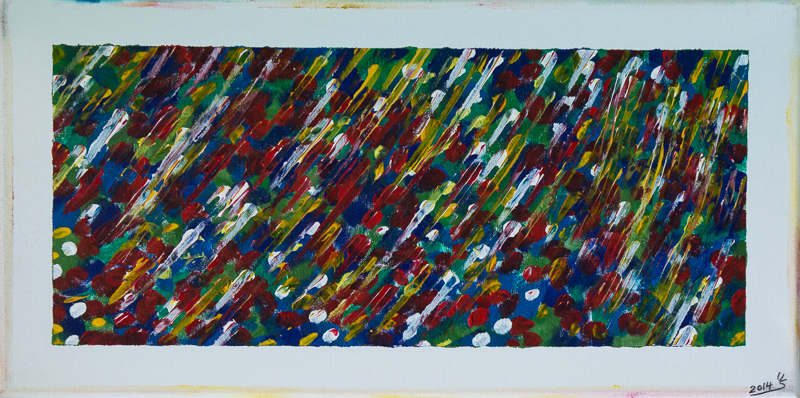 Sommerwiese - Acryl auf Leinwand,  60x30 cm, 2014,  U. Schachner