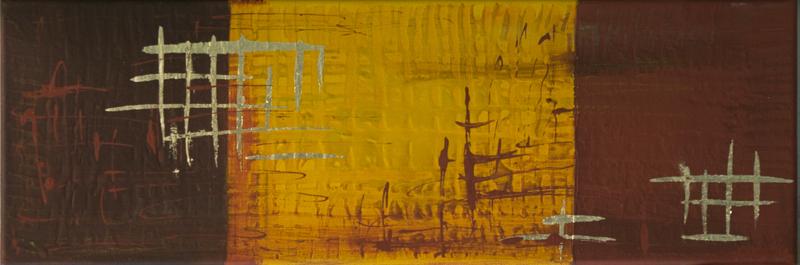 squared - Acryl auf Leinwand,  60x20 cm, 2014,  U. Schachner