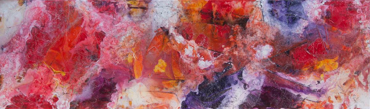 Tulpenmeer - Acryl auf Leinwand, 200x60 cm, 2017, S. Ulrich - VERKAUFT