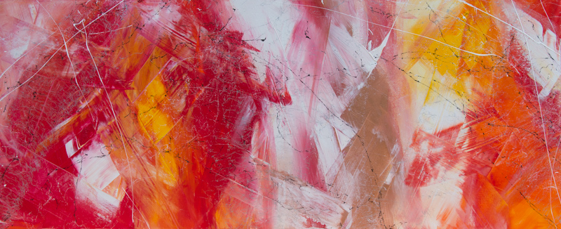Floating - Acryl auf Leinwand, 150x60 cm, 2017, S. Ulrich