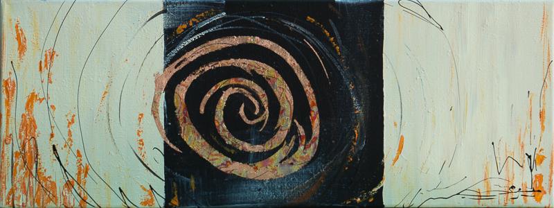 circle II  - Acryl auf Leinwand, 80x30 cm, 2014, U. Schachner