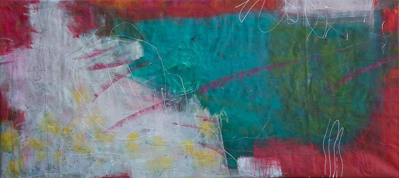 Dschungel - Acryl auf Leinwand, 70x155 cm, 2014 - S. Ulrich - VERKAUFT!