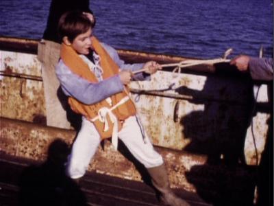 Sébastien et la Mary-Morgane Cécile Aubry - Mehdi el Glaoui (fils de Cécile Aubry) et Jacques Godin sur le tournage