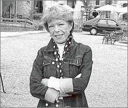 Cécile Aubry à Saint-Cyr-sous-Dourdan (ferme des Tourelles) en 2002