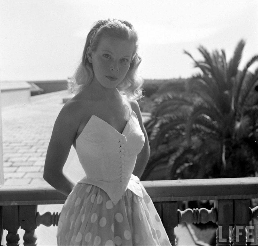 Cécile Aubry à la Mostra de Venise en 1949