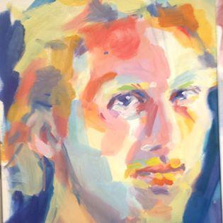 portrait de David, peinture de Séverine Saint-Maurice, lescerclesdelumiere.com