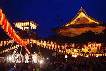 昭和初期頃まで行われていた盆踊り会を復活させたものだそうです