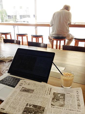 茂原市のピースコーヒーで仕事中〜