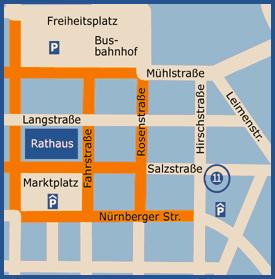 Stadtplan Hanau - so finden Sie uns