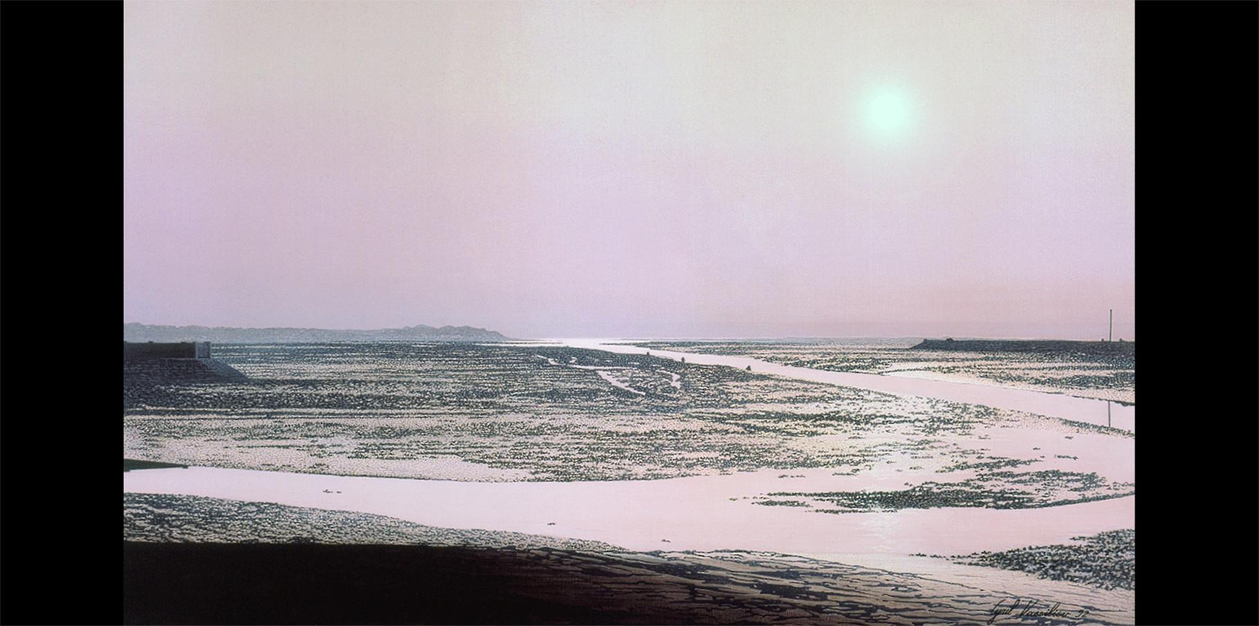 Le Fier vue du chenal d'Ars en Ré   Acrylique sur toile  1992