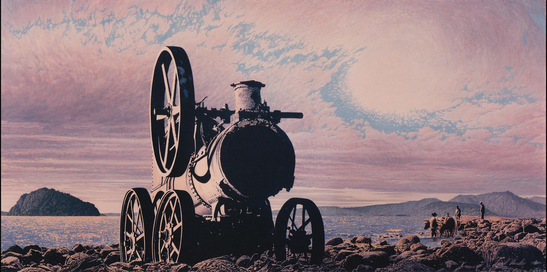Locomobile  Acrylique sur toile   1991  195x97