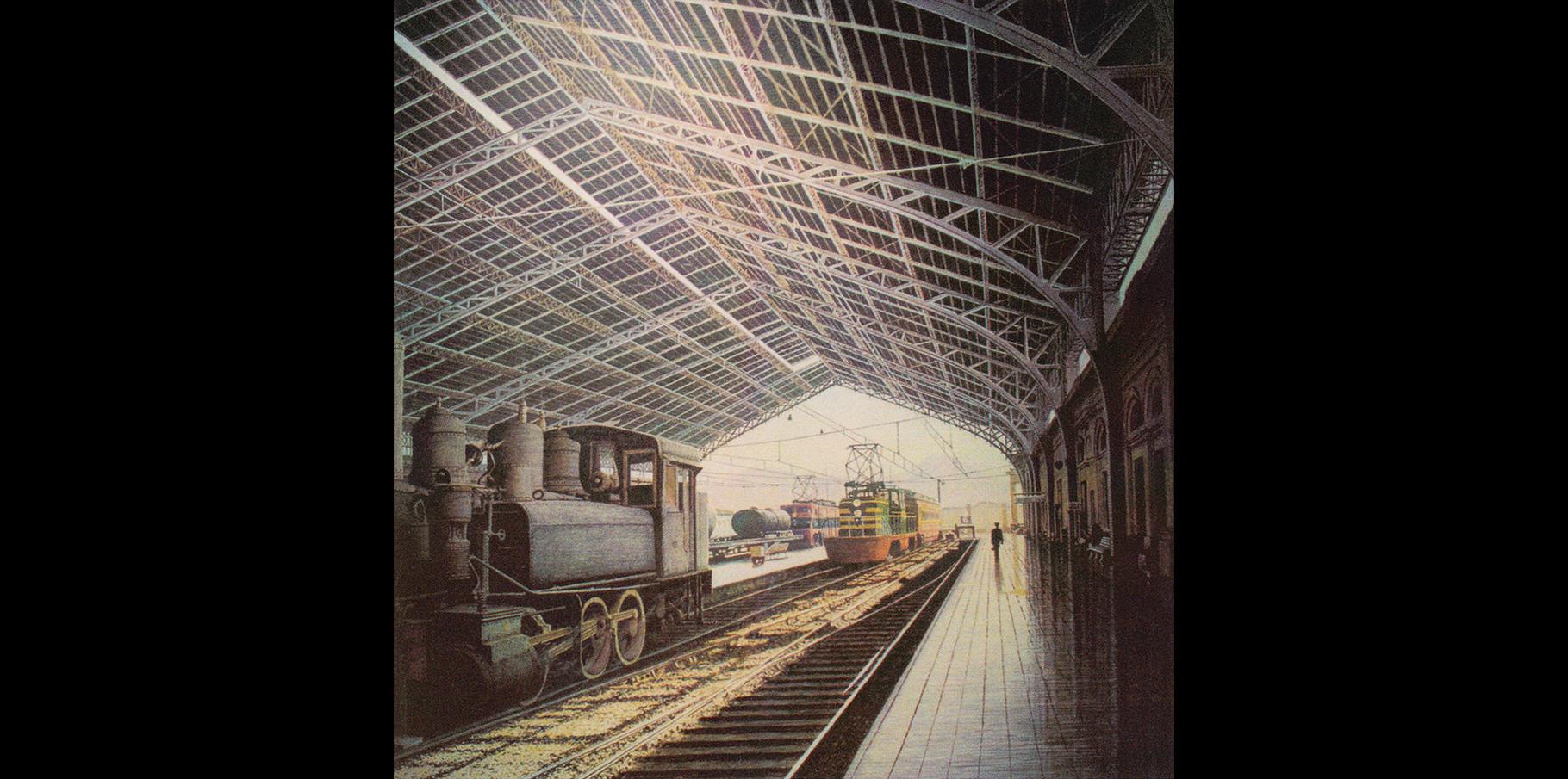 Gare central _Santiago   Acrylique sur toile  1995