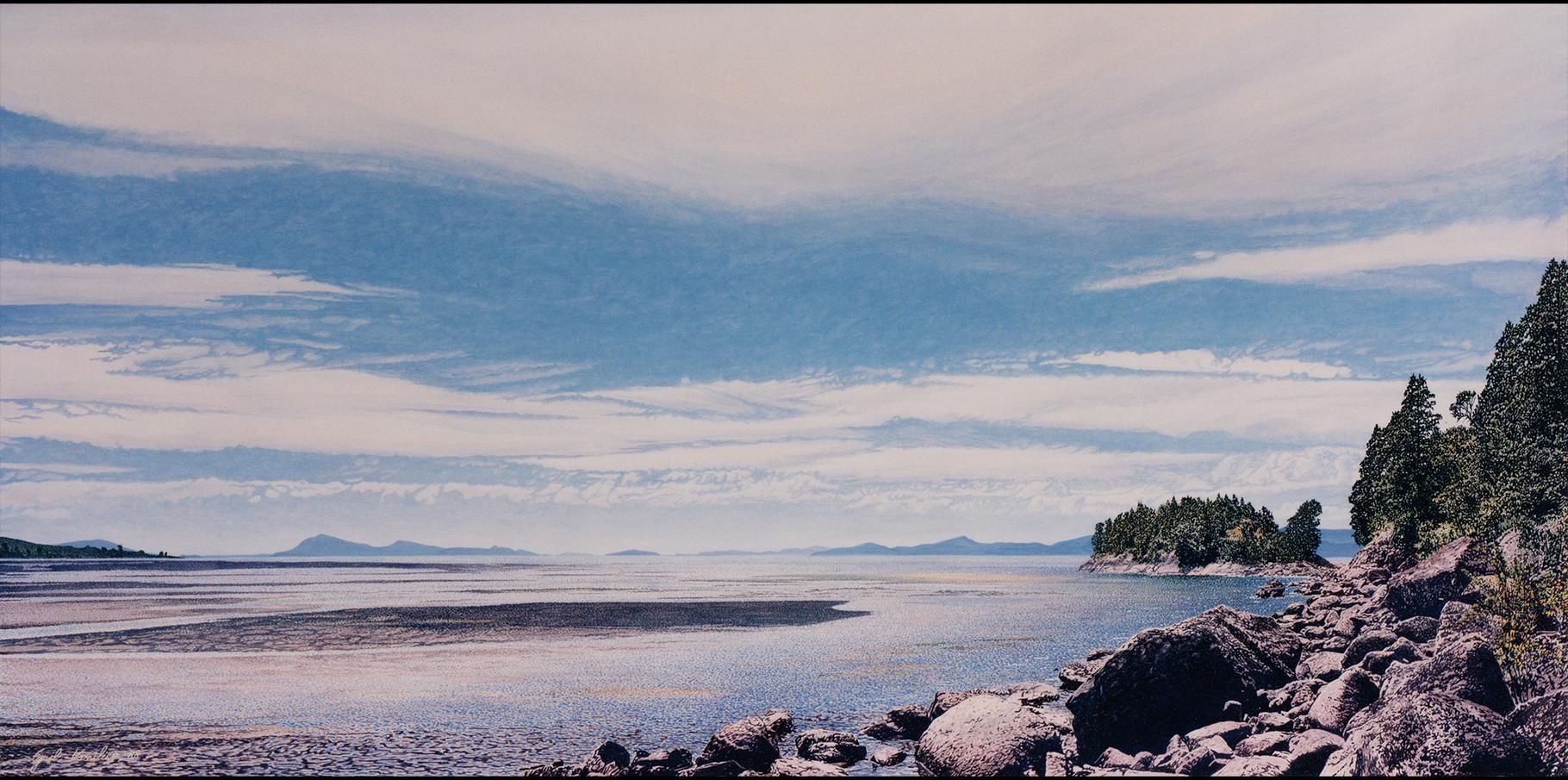 lago Ranco  Acrylique sur toile  195x97 1992