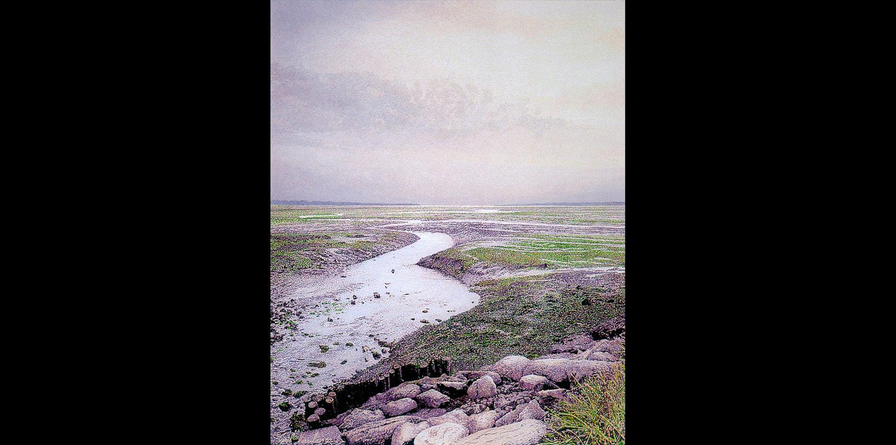 Le chenal d'Ars  Acrylique sur toile  2002   50x71