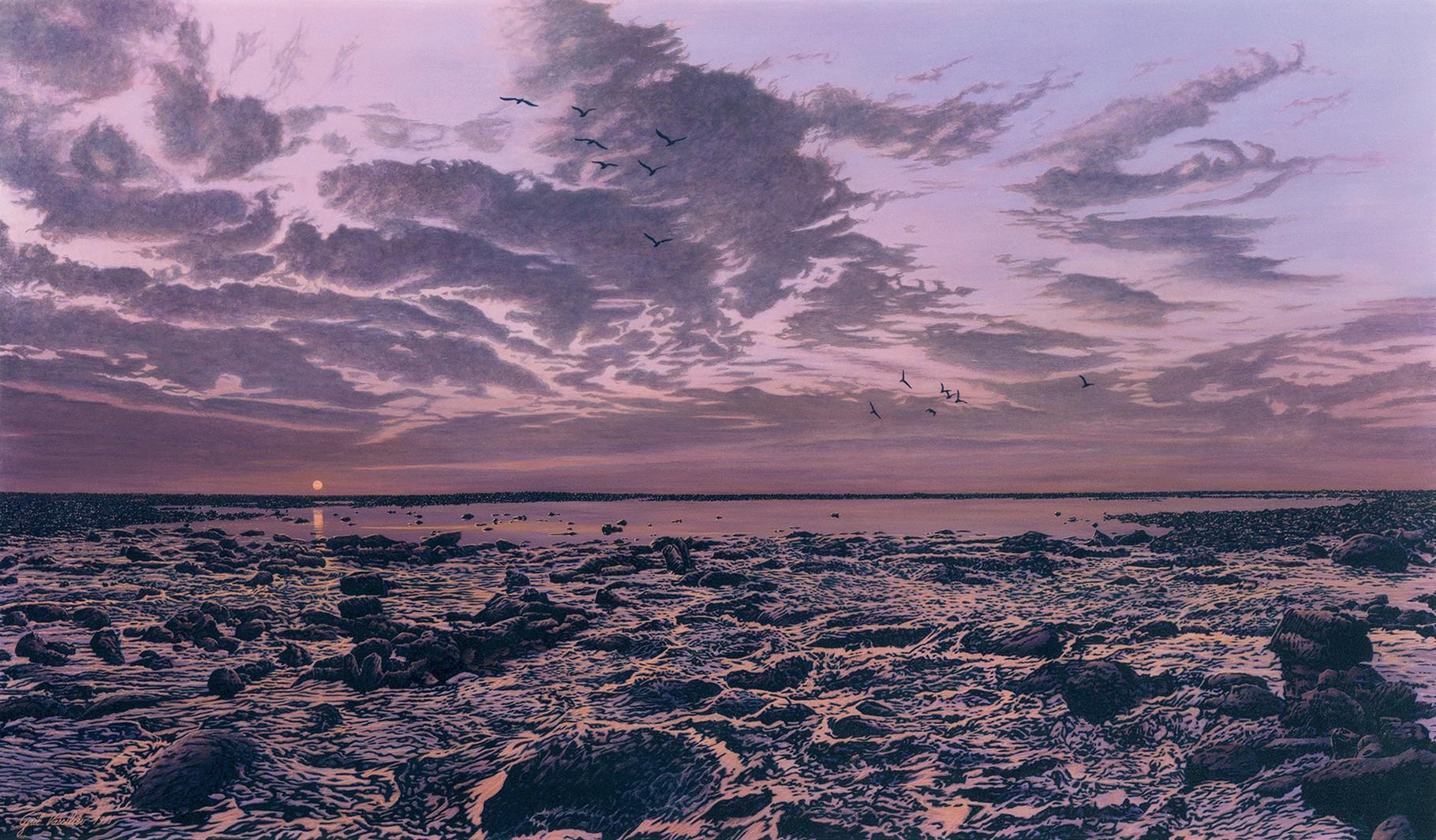 Pointe De Radia   Acrylique sur toile   195x114  1991