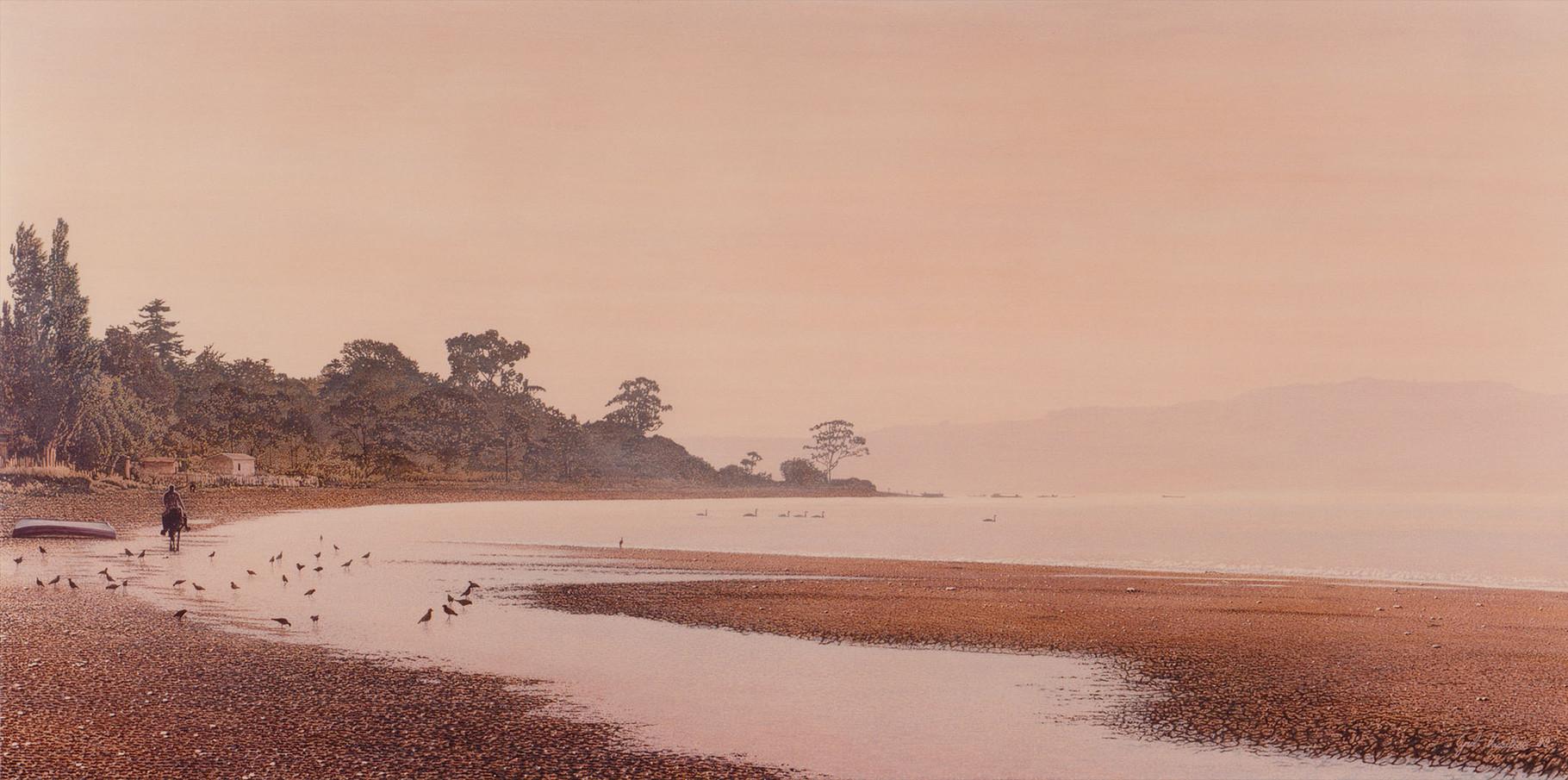 Ile de Chiloe  Acrylique sur toile   195x97