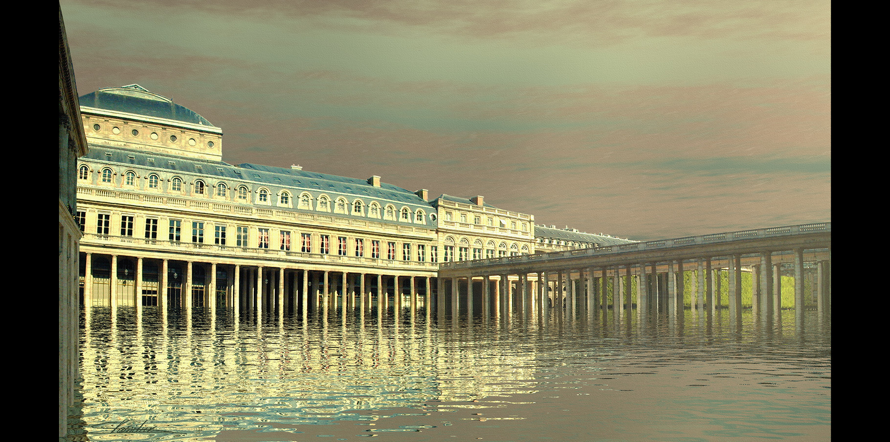 La Comédie française et le jardin du Palais-Royal  2004
