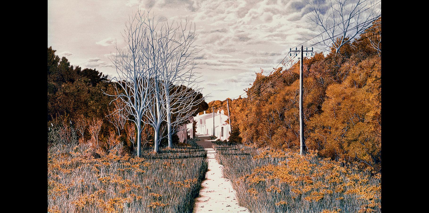 La Rivière en Ré   Huile sur toile  1972