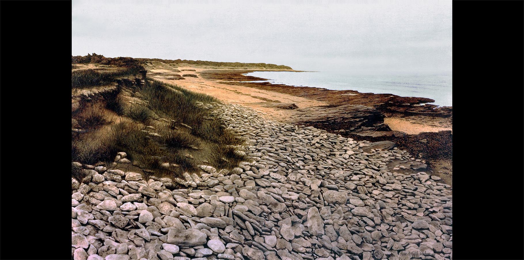 La Pointe du Lizay   Huile sur toile  1973