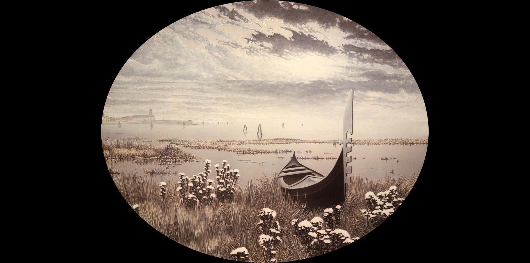 La Lagune   Acrylique sur toile