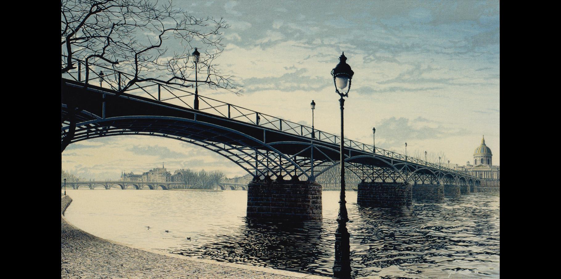 Pont des Arts  - acrylique sur toile