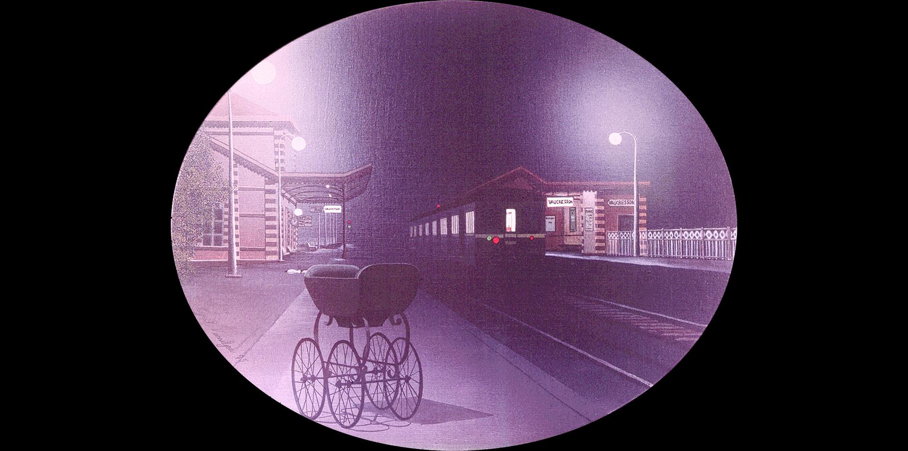 Gare de Vaucresson - acrylique sur toile