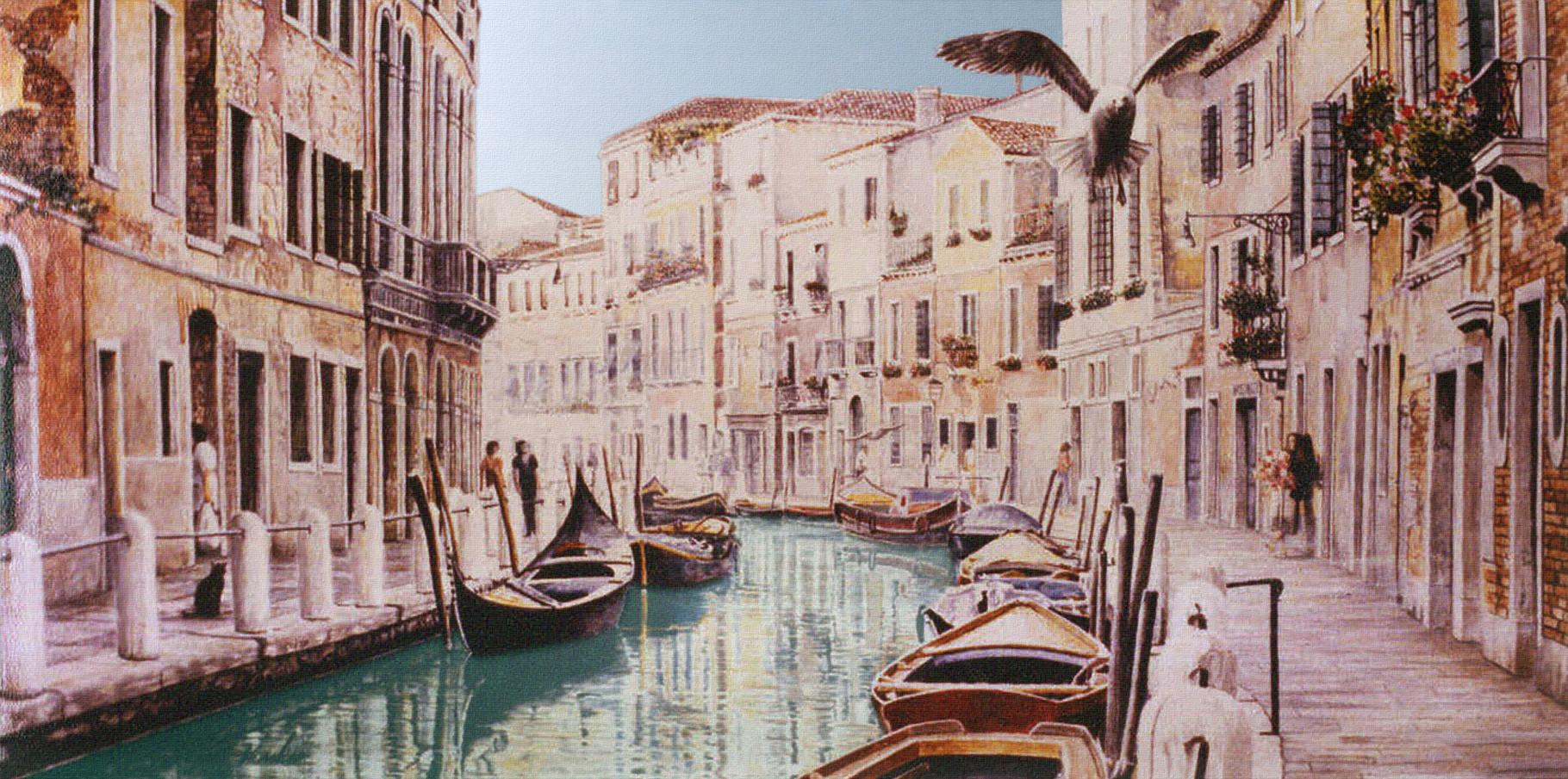 Fondamenta di Borgo   Acrylique sur toile