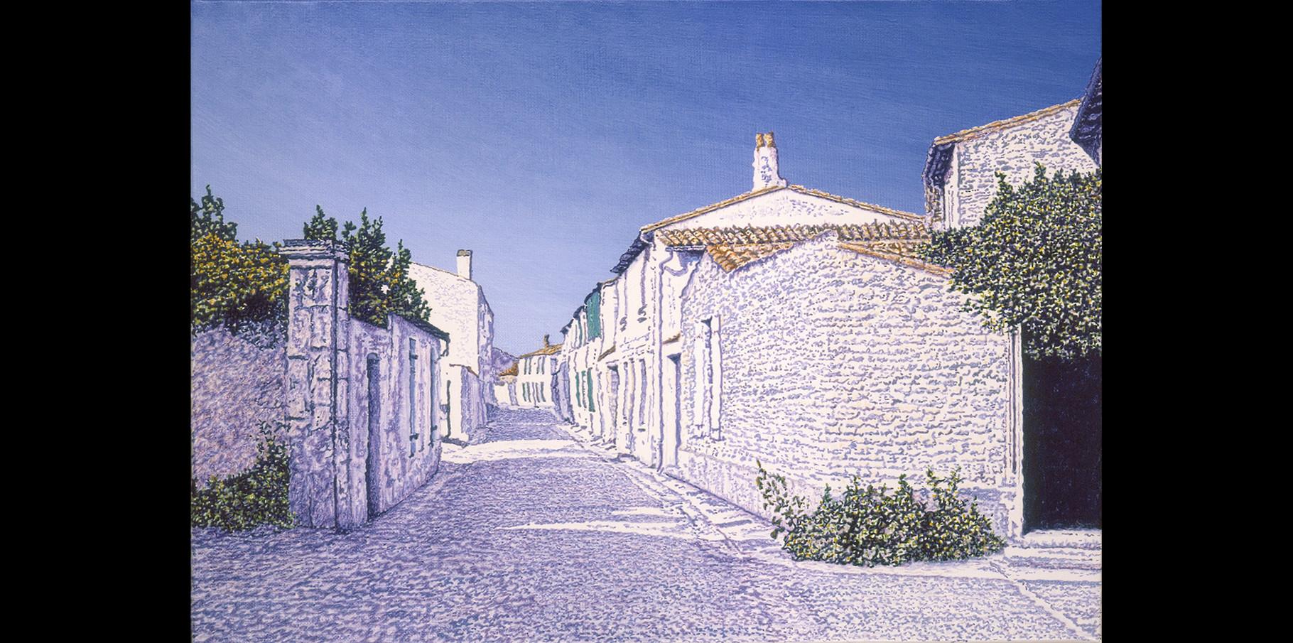Rue Chanzy - Ars en Ré   Acrylique sur toile  2002