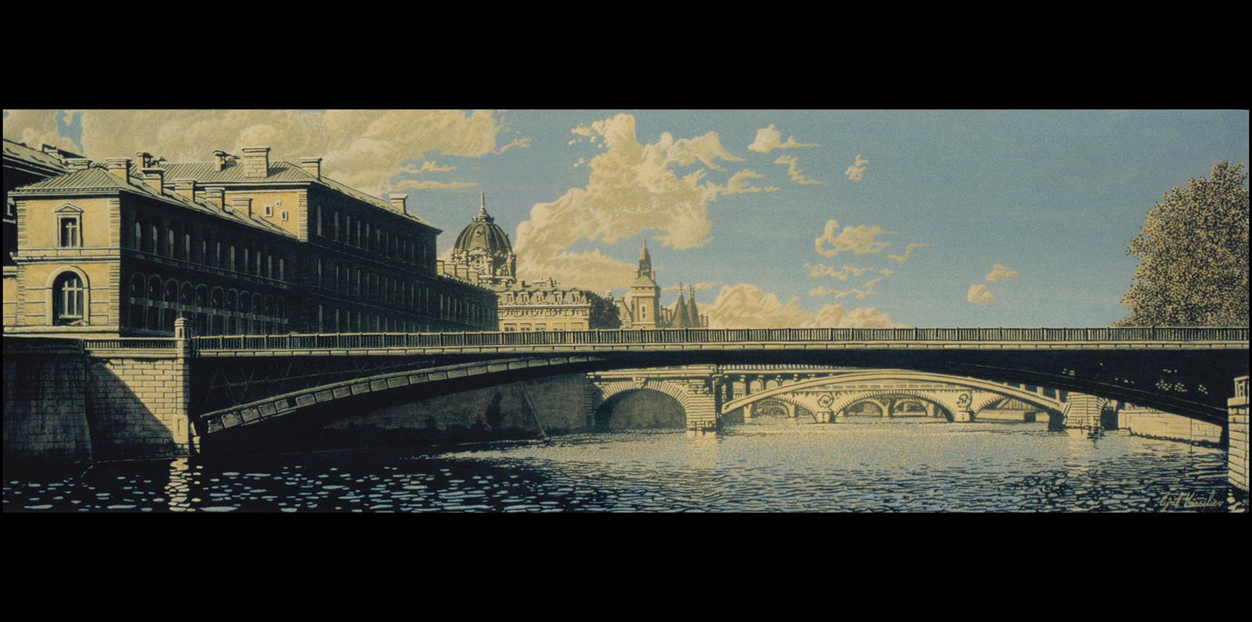 Pont D'Arcole  - acrylique sur toile
