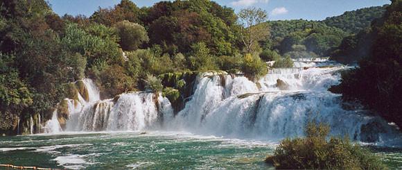 KRK-Wasserfälle - Ausflugsziel nicht weit vom Gästehaus Melli in Vodice