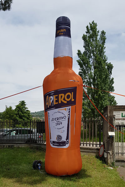 Bottiglia gonfiabile Aperol 5m H