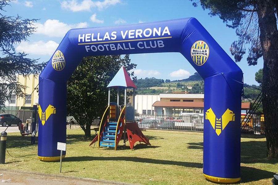 Arco Gonfiabile Hellas Verona - grafica fissa
