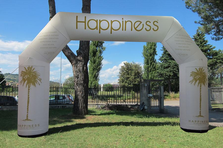 Arco Gonfiabile Happiness - grafica mista