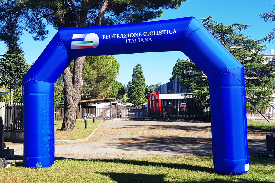 Arco Gonfiabile Federazione Ciclistica Italiana - grafica mista